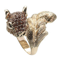 Kristy Squirrel Ring | Gold | Accessorize