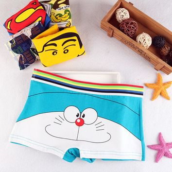 New Girls Cartoon Cute Underwear youth Soft Cotton Seamless Briefs Duck cat Elf Patterned Panties Sexy Female students underwear