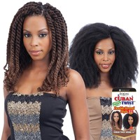 "Freetress Cuban Twist Double Strand 12"" Synthetic Braiding Hair"