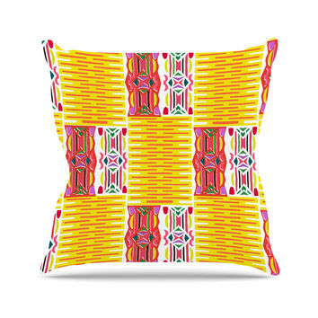 "Miranda Mol ""Cool Summer"" Gold Coral Throw Pillow"