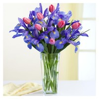 Petite Mom's Delight with Square Vase - ProFlowers