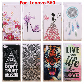 For Lenovo S60 Case Crystal Diamond 3D Hard Plastic Cover Case For Lenovo S60 S60T Cell Phone Cases