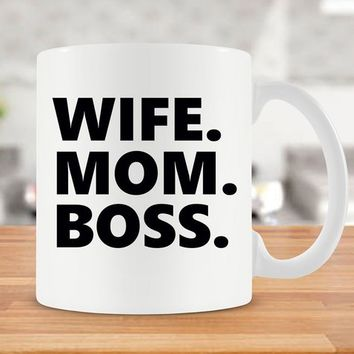 Wife Mug Gift For Boss Mom Gift Ideas Mothers Day Present For Her Mom Coffee Mug Best Coffee Cup Boss Lady Mug Wife Gift Ceramic Mug - SA790