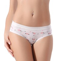 Women Candy Color Casual  Cotton Underwear Panties