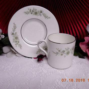 Wedgwood White China Dinnerware WestBury Pattern #: R4410 Demitasse Cup & sauce