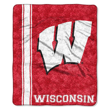 Wisconsin Badgers NCAA Sherpa Throw (Jersey Series) (50in x 60in)