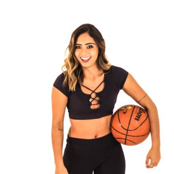 Twisted Fitness Top - Black