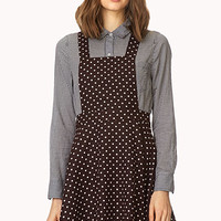 Polka Dot Overall Dress