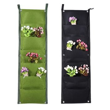 1/4/7/9/12 Pockets Wall Planter Vertical Garden Pots Hanging Planting Bags Garden Decorations Storage Bags Pockets Planting Bag