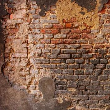 PRINTED BACKGROUND DISTRESSED BRICK WALL BACKDROP 5x6 - LCPCx0001 - LAST CALL