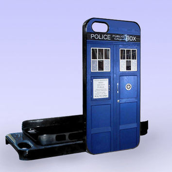Tardis Police Call Box Dr Who - Print on Hard Cover - iPhone 5 Case - iPhone 4/4s Case - Samsung Galaxy S3 case - Samsung Galaxy S4 case