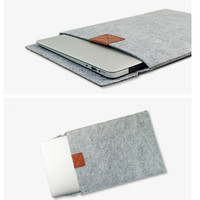 Legal-Sized Felt Envelope with Tan Leather Accent