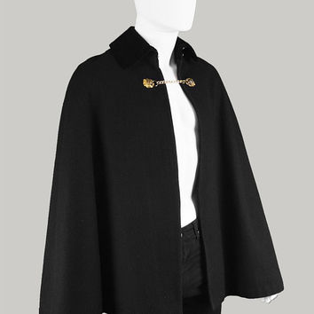 Vintage 60s MISTER CARNABY Street Wool Mens Cape Mens Wool Cloak Black Velvet Collar 1960s Mod Jacket Mens Mod Coat Gents Outerwear Gothic