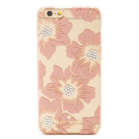 Kate spade kate spade NEW YORK Kate spade IPHONE 6 6 6 s case iPhone iPhone 6 s case ecosanctuary Holly Hock IPHONE CASES JEWELED HOLLYHOCK - 6 with bijoux Hollyhock rose pink brand women new