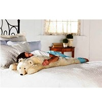 Super-Soft Big Bear Hug Body Pillow with Realistic Accents, in Polar Bear