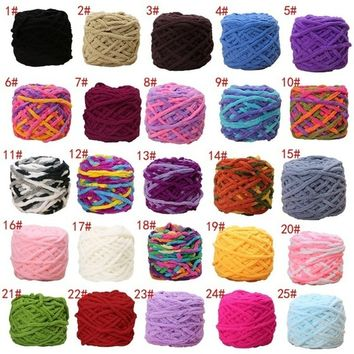 100g/1ball Soft Cotton Hand Knitting Yarn Chunky Woven Bulky Crochet Worested   LKS