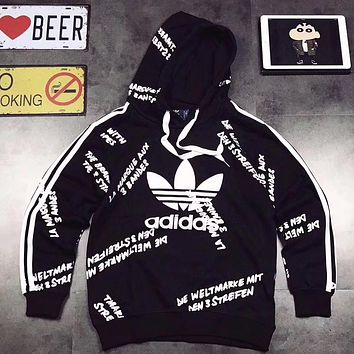 ADIDAS Woman Men Fashion Print Hoodie Top Sweater Pullover