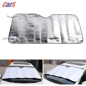 Window Foils Windshield Sun Shade Car Sun Visor Cover Block Front Window Sunshade UV Protect Car Window Film 130*60cm