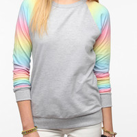 Urban Outfitters - Pins And Needles Rainbow Sleeve Sweatshirt