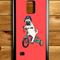 Funny Pug Riding Samsung Galaxy Note 4 Case