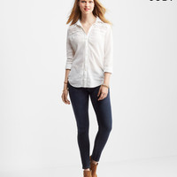 Cape Juby Long Sleeve Lace Inset Button Down
