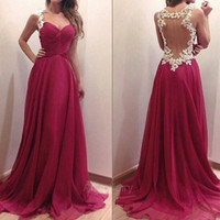 Stylish Lady Women's Cocktail Evening Party Ball Prom Gown Formal Sleeveless Sexy Dress A_L = 1655763524