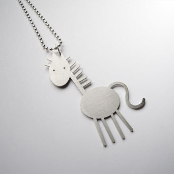 FUNNY HORSE NECKLACE by iloveyoujewels on Etsy