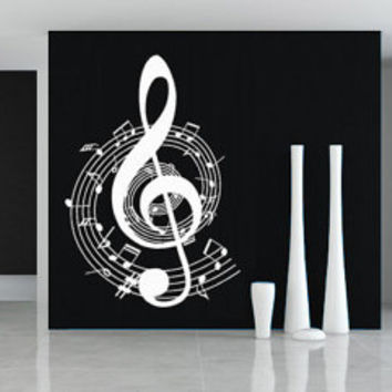 Music Clef Rounded wall decal for housewares