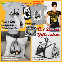 Cat Lovers Original and Unique Gifts Ideas - by BluedarkArt Designer