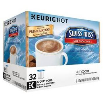 Swiss Miss Milk Chocolate Hot Cocoa K-Cup pods 32 ct