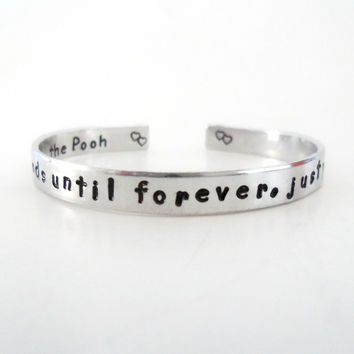 Gift Ideas | Best Friends Gift | Sisters Gift | Cuff Bracelet | We Will Be Friends Until Forever, Just You Wait And See | Customizable