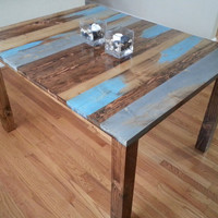 Rustic Distressed Dining Table Kitchen Table