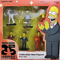 The Simpsons 25th Anniversary Hand Painted 6 Mini Figures Collectible Series 1