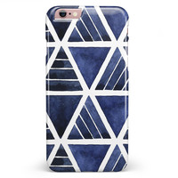 The Blue Triangluar Aztec Pattern iPhone 6/6s or 6/6s Plus INK-Fuzed Case
