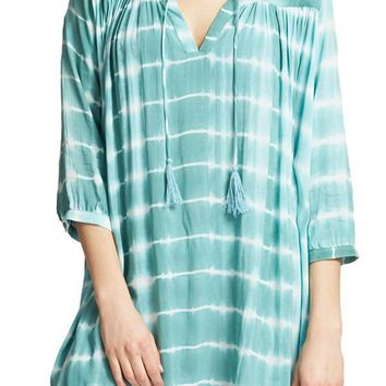 Olivaceous Printed Tunic Coverup
