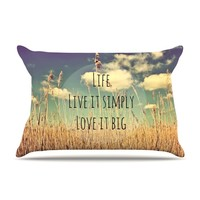 "Alison Coxon ""Life"" Pillow Case"