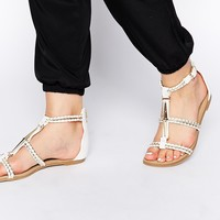 Miss KG Rosalie Braided Strappy Flat Sandals