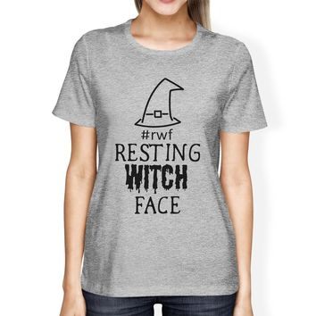 Rwf Resting Witch Face Womens Grey Shirt