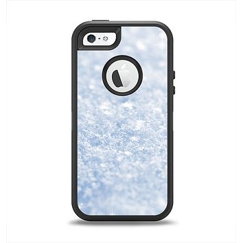 The Sparkly Snow Texture Apple iPhone 5-5s Otterbox Defender Case Skin Set