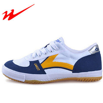 Mens Table Tennis Shoes Women Canvas Lace-Up Sport Training Shoes Sneaker Lightweight Outdoor