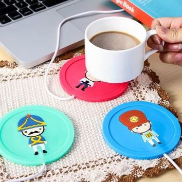 so cute usb cup warmer coffee tea cup winter warm coasters gift  number 1