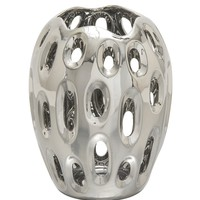 59731 Gorgeous Ceramic Silver Vase-59731