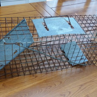 Vintage Metal Animal Trap Cage Great for Rustic Cabin Farmhouse Farm Decor Altered Art