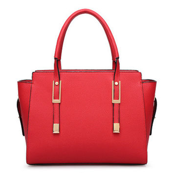 Stylish Leather Tote Fashion Shoulder Bag [6582945031]
