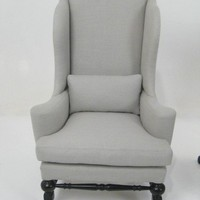 Lucca Antiques - Seating: Pair of Italian Wingback Armchairs