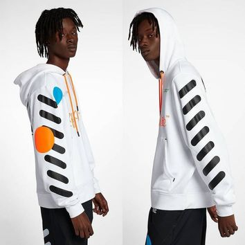 KUYOU Off White OW Joint World Cup 33 Hoodie Sweater White