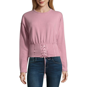 Project Runway Long Sleeve Corset Sweatshirt - JCPenney