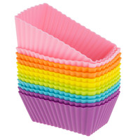 12 Rectangle Silicone Baking Cup