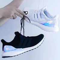 Adidas Ultra Boost UB4.0 Laser Black/White Women Men Sports Shoes Comfortable Sneakers Laser Tail