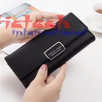 by dhl or ems 50pcs Women Wallets Purse Female Purse Women's Natural Leather Wallets PU Ladies Clutch Phone Bag